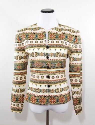Papell Taglia donna Button Blazer Giacca Evening Silk 8 Adrianna da Marocchino dUHdq