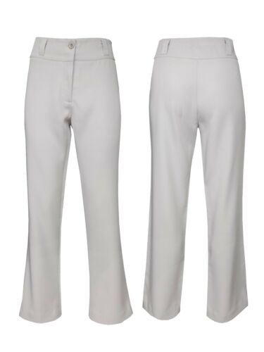 Womans Tailored Wide Leg Trousers Smart formellement Office Work Bootcut White Trouser