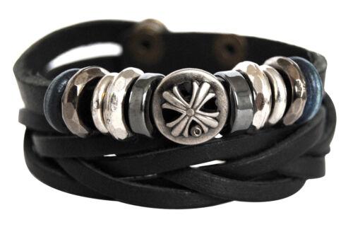 Authentique bracelet en cuir-série 11-lam11 unisexe Bracelet Leather Bracelet pour hommes