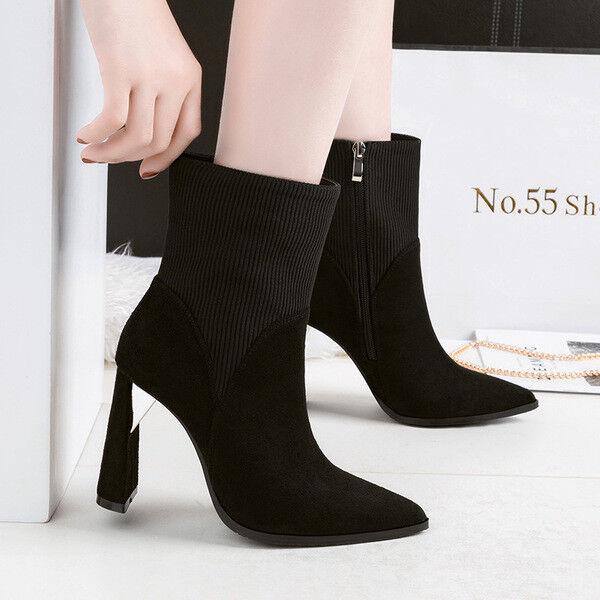 stivali stivaletti bassi scarpe caviglia nero 10 cm eleganti simil pelle 9676
