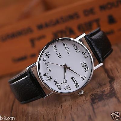 Women Men Watch Creative Sums Leather Stainless Steel Sport Quartz Wrist Watches