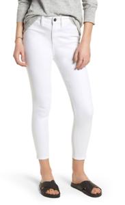 Treasure & Bond Womens White Charity High Waist Crop Skinny Jeans Sz 31 7711
