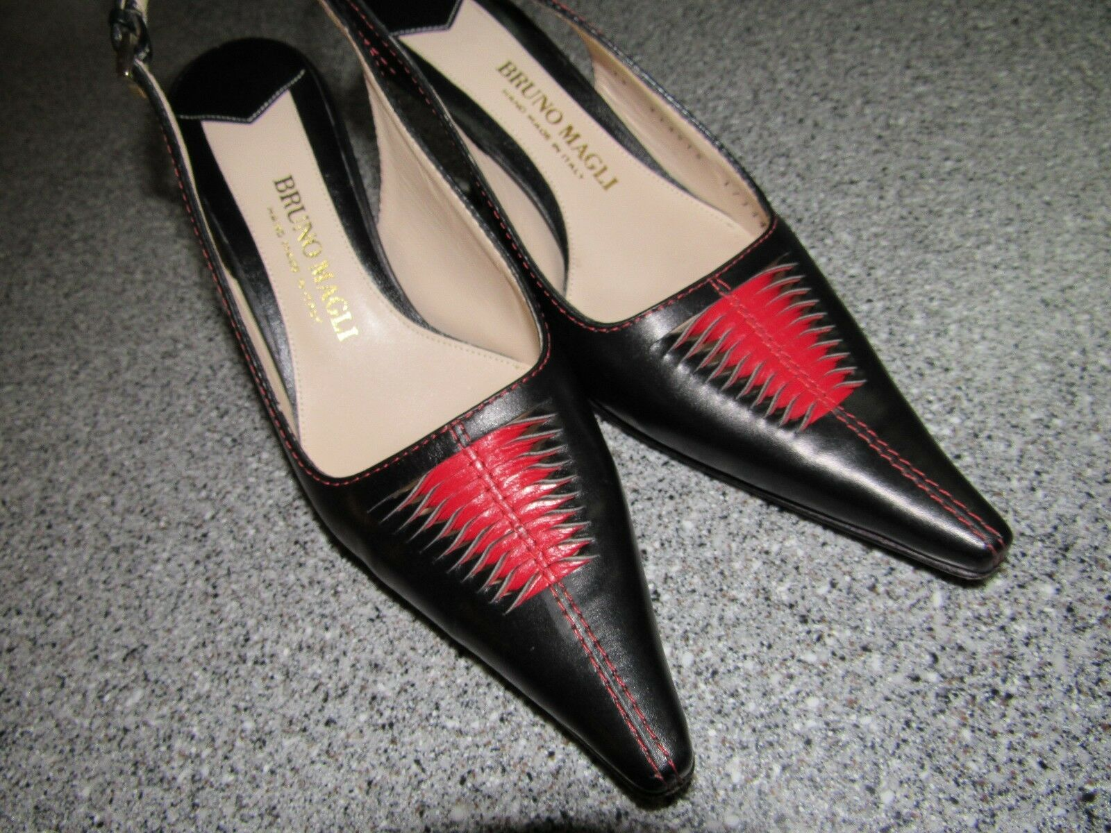 BEAUTIFUL PAIR OF BRUNO MAGLI HEELS PUMPS Größe 36 HAND MADE IN ITALY STRAP