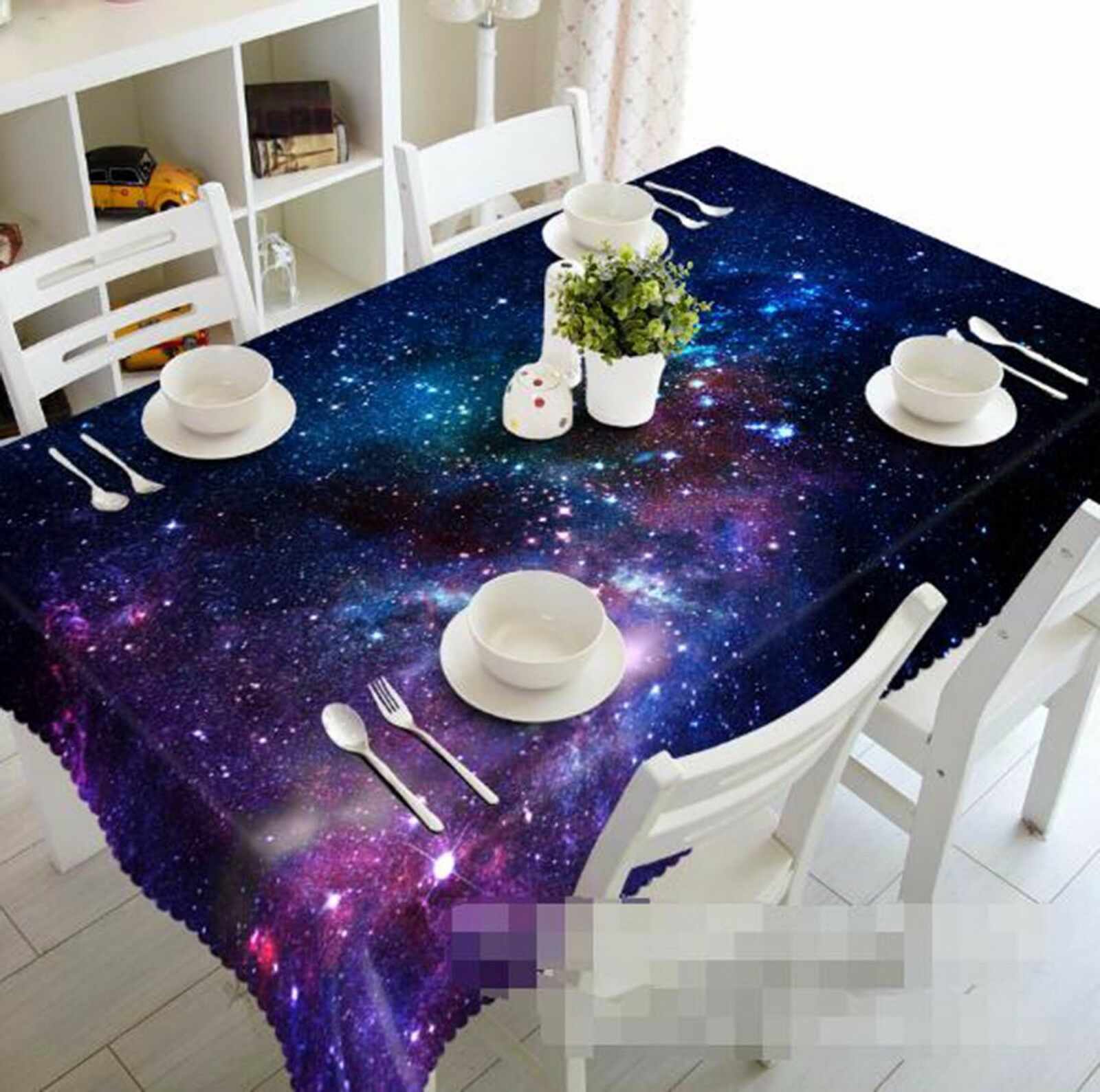 3D Stars 43 Nappe Table Cover Cloth fête d'anniversaire AJ papier peint Royaume-Uni Citron