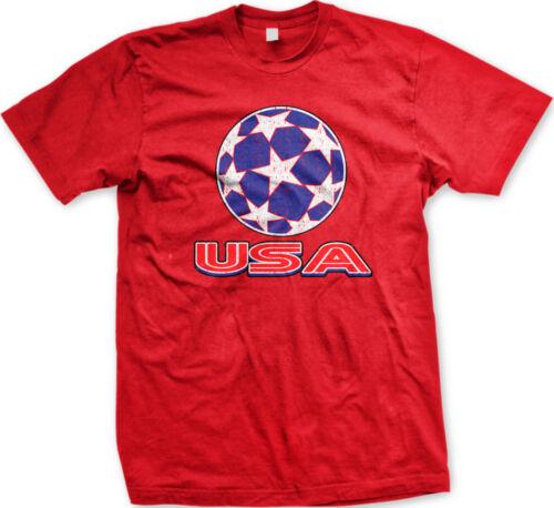 USA Stars Soccer Ball United States American Country Team Born US Men/'s T-Shirt