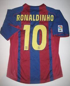 26265b17e La foto se está cargando FC-Barcelona-Ronaldinho-HOME-JERSEY-TRIKOT