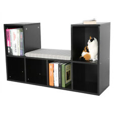 Item 1 Multi Functional Wooden 6 Grids Storage Shelf Bookshelf Bookcase Cube Cabinet US