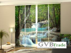 fotogardinen wasser schiebevorhang schiebegardinen vorhang. Black Bedroom Furniture Sets. Home Design Ideas