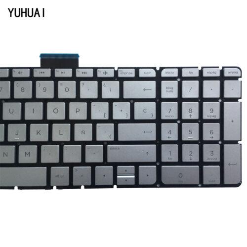 For HP ENVY 15-as000 15-as100 15t-as000 Keyboard Spanish Teclado Backlit Silver