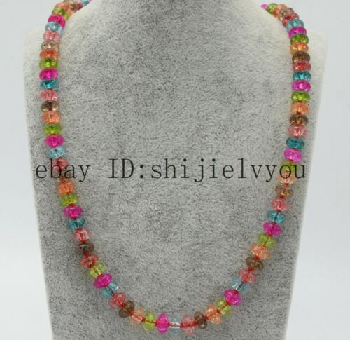 """Genuiue fine Faceted 5x8mm Tourmaline Blotter Perles Collier 20/""""AAA"""