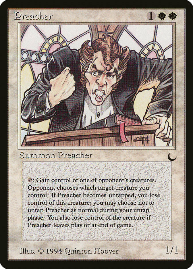 MTG X1  Preacher, The Dark, R, MP - RESERVE LIST - FREE US SHIPPING