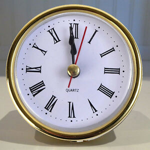 2-1-2-034-Easy-to-Use-QUARTZ-CLOCK-FIT-UP-Insert-Gold-Trim-Roman-Numeral-Gift