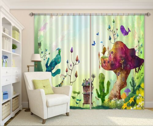 3D Cartoon 82 Blockout Photo Curtain Printing Curtains Drapes Fabric Window AU