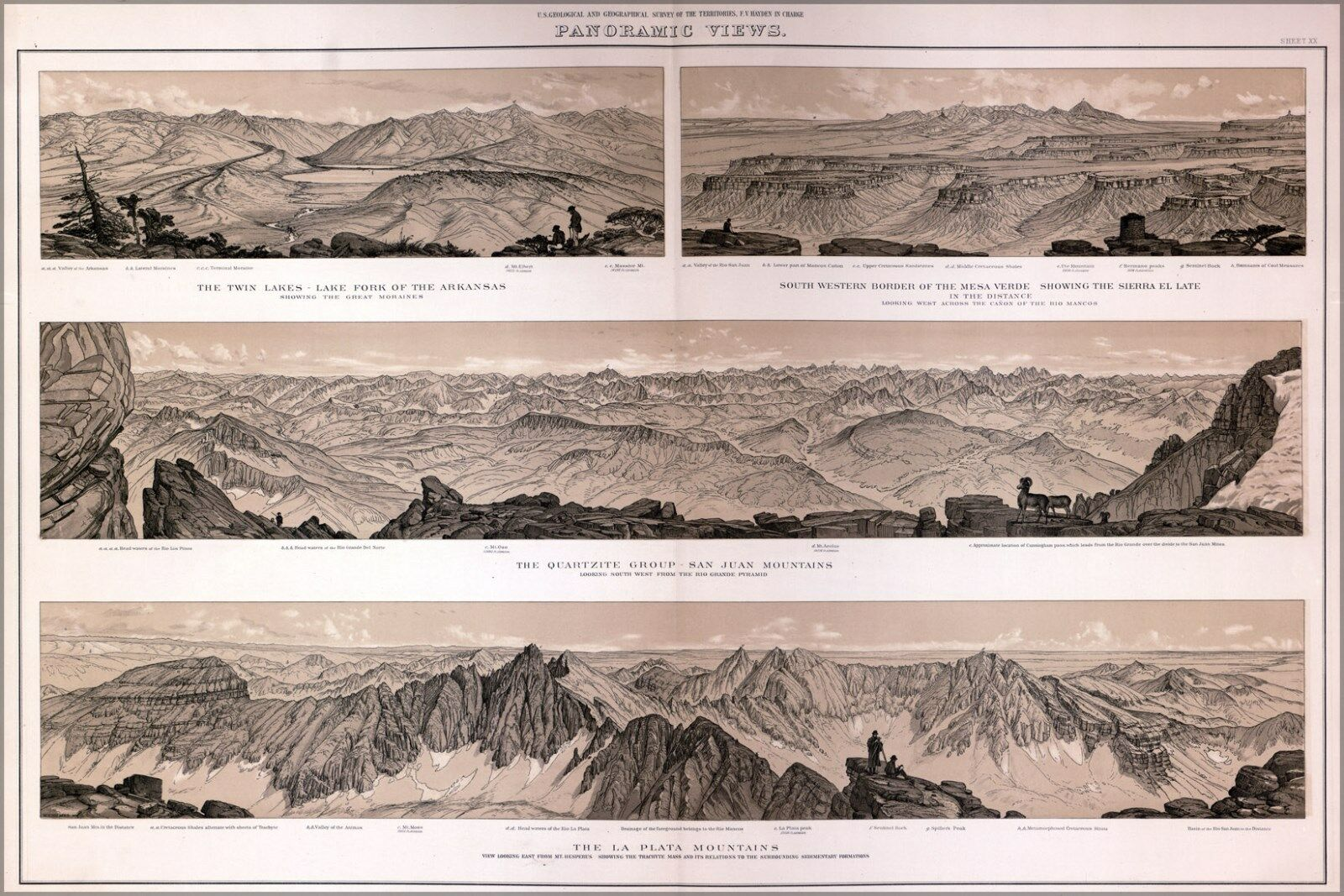 Plakat, Viele Größen; Panoramisch von Farbeado 1877 P2