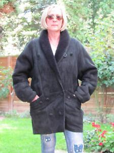 WOMENS-XXXL-Shearling-Lambskin-Sheepskin-Lamb-Coat-Jacket-Ladies-D2890