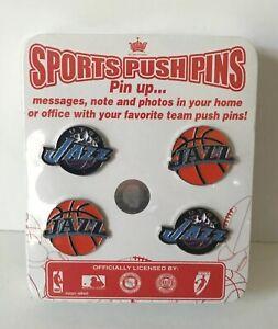 Utah-Jazz-Basketball-Sports-Push-Pins-New-lot-of-4-NBA