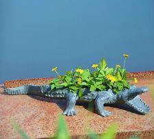 "Alligator Planter Outdoor Garden Florida Crocodile Patio Flower Pot Coastal 29""L"