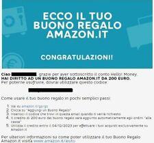 200 euro Amazon se apri conto Hello Bank cod. MGM302799375