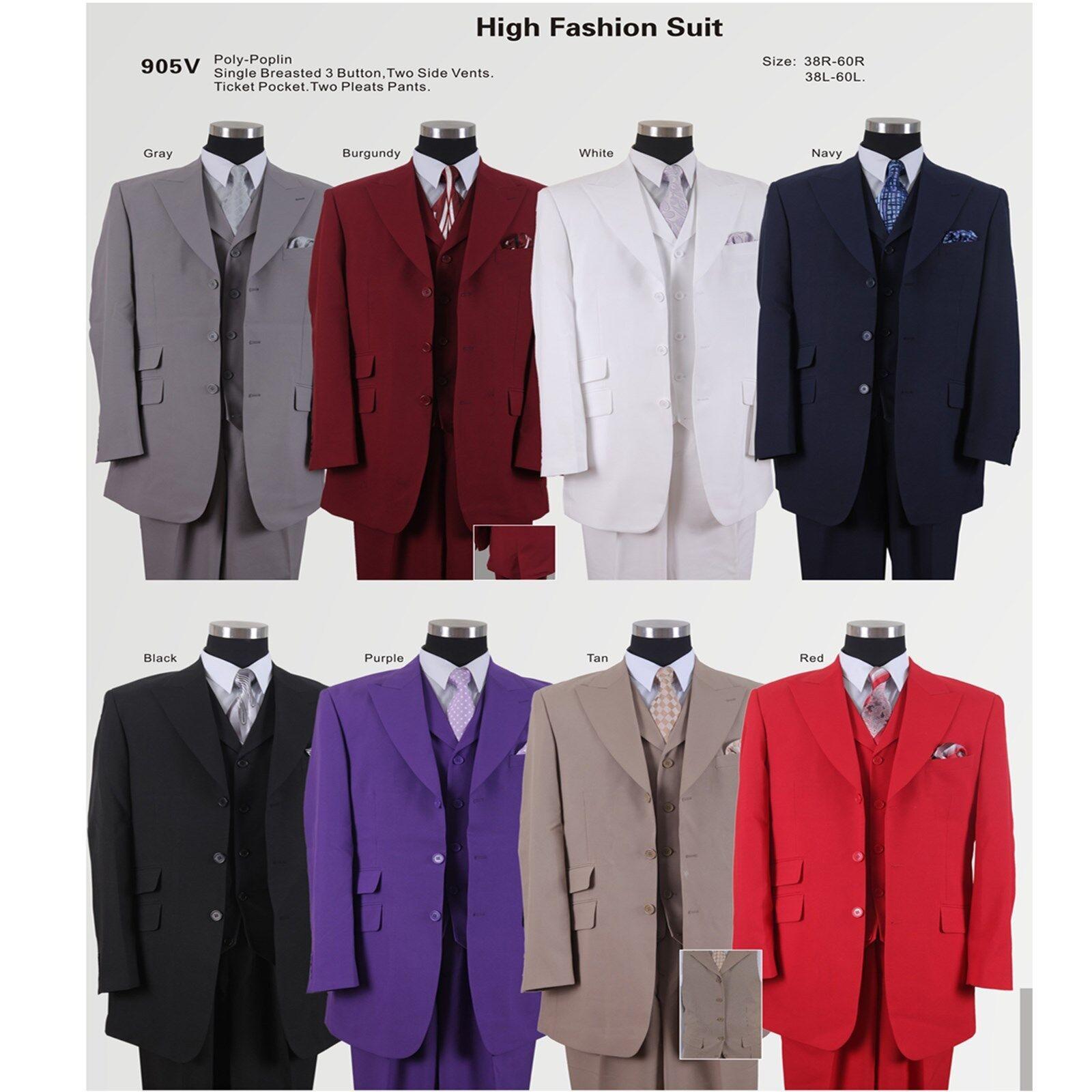 Fashion suit 3 Button, Vest , Double Vent Length 35