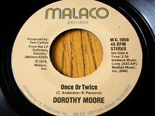 """DOROTHY MOORE - ONCE OR TWICE  7"""" VINYL"""