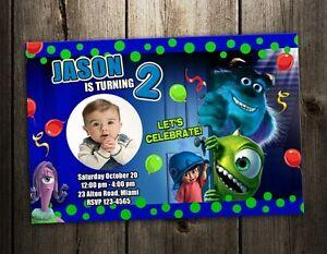 monsters inc university birthday party invitation card invite st, invitation samples