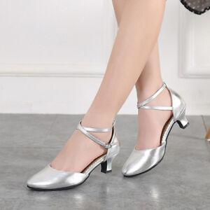 Modern-Women-039-s-Ballroom-Latin-Tango-Dance-Shoes-Salsa-Heels-Dancing-Shoes