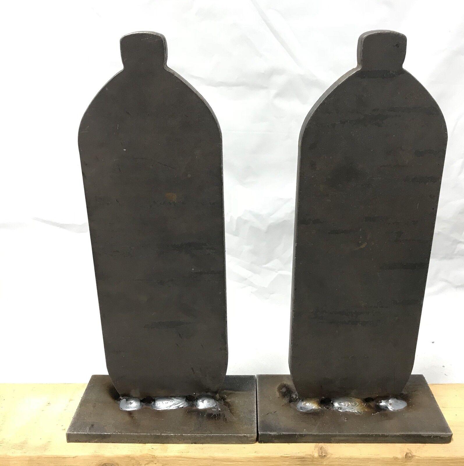 AR500 3 8  Pop Botella Knock-sobre destino de acero Conjunto de 2