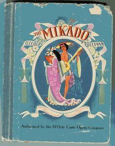 Details about THE MIKADO Gilbert & Sullivan Story Music Lyrics Vintage HB  1940 Beckett Illust