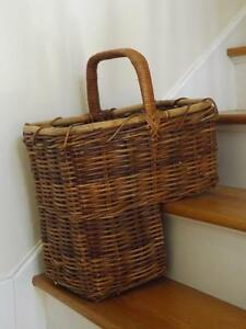 Image Is Loading Vintage Handwoven Vine Wicker Bamboo Branches Twigs Stair