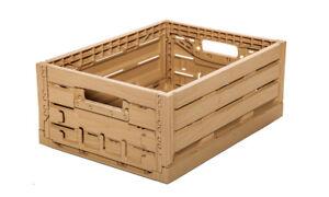Sonderabschnitt 1 Kiste Holzoptik Klappbar Stapelbar Für Regale 40x30x16,5cm Gastlando Möbel