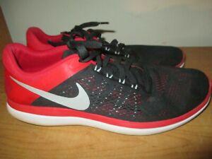 2e773f6bb1044 Nike Flex Run 2016 Men s Size 12 Running Shoes Red Black - Very Nice ...