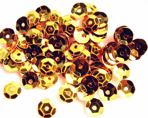 20 gramos de oro T taza plástica//Adorno de lentejuelas en relieve 8 mm álbumes de recortes elaboración de tarjetas