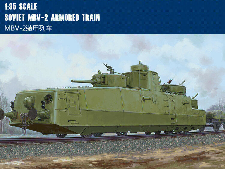 85514 Hobby Boss Soviet MBV-2 Armored Train Vehicle Panzer 1 35 Model DIY Car