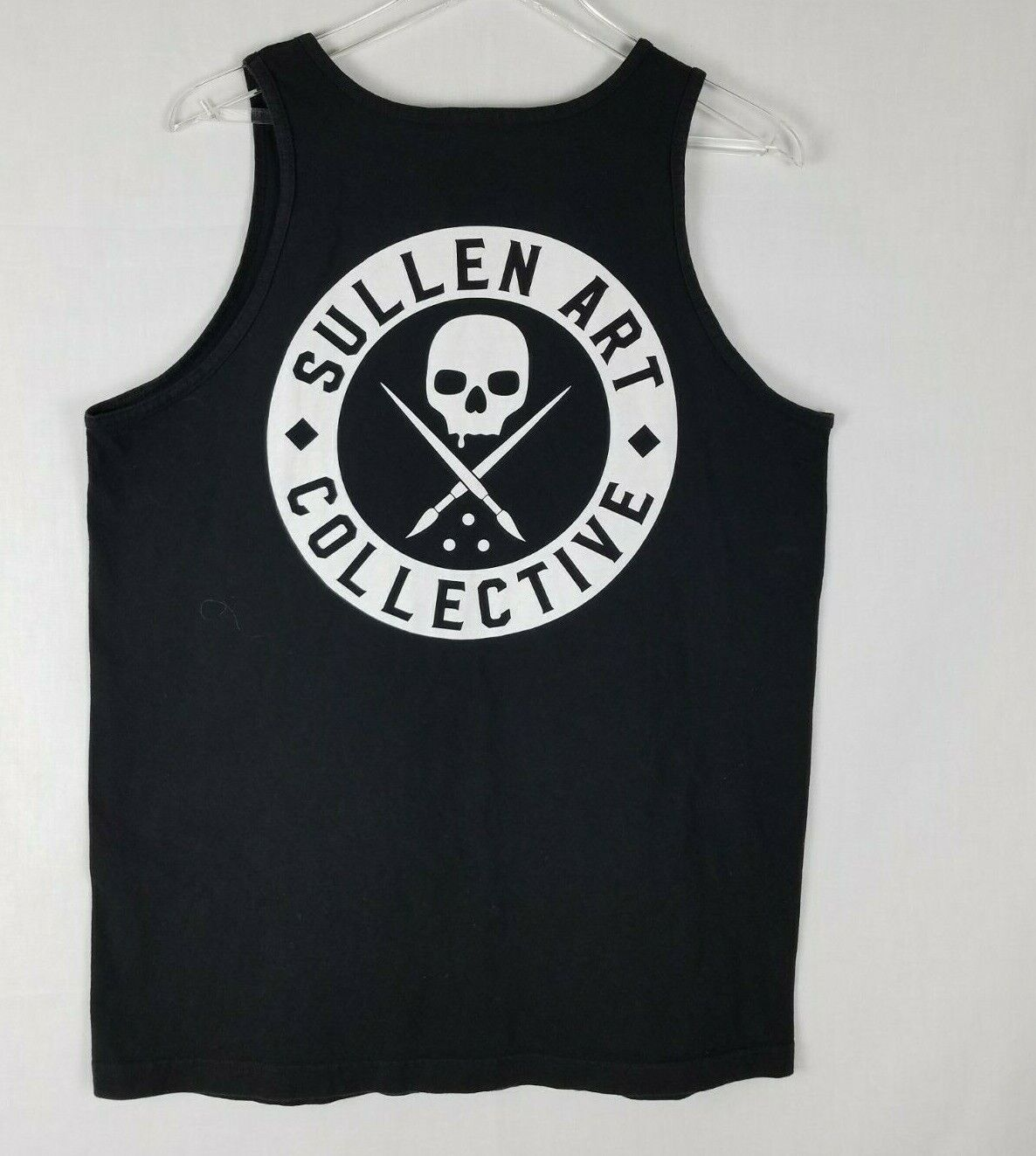 Sullen Art Collective Clothing Tank Top Getting Hammered Tattoo Skelett Haie