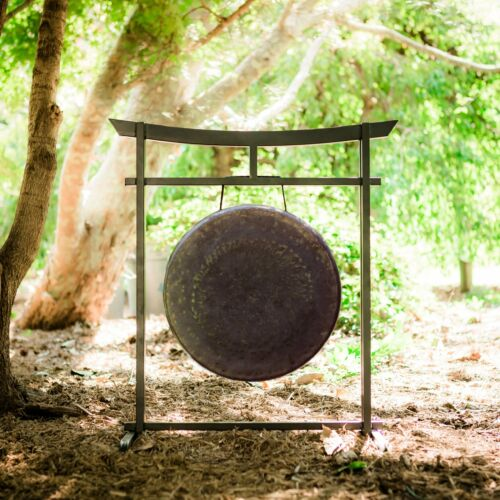 """16/"""" to 17/"""" Gongs on the Sacred Space Outdoor Gong Stand"""