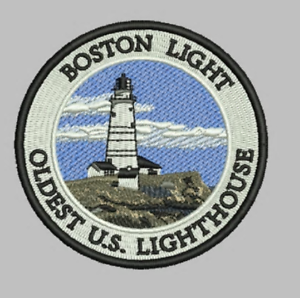 Limited Edition Boston Light 3//5 inch Embroidered Patch