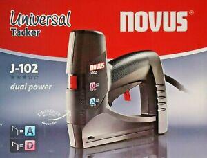 Novus-Universal-Tacker-J-102-Elektro-Tacker-fuer-Klammern-Typ-A-amp-D-6-14mm-031-0354