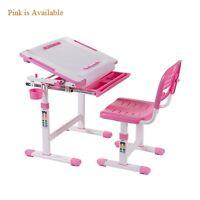 B203 Healthy Ergo Study Desk & Chair Set Pink W/paper Roll Holder, H-adjustable
