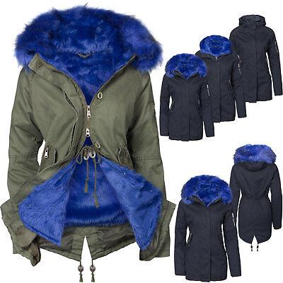 3 IN 1 Damen Winterjacke Baumwolle Teddy Fell Military Style