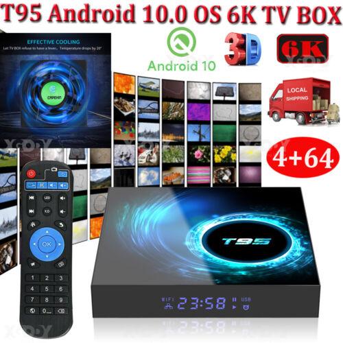 T95 Android 10.0 4+64G Quad Core 6K Smart TV BOX WIFI Netzwerk Media Player DHL