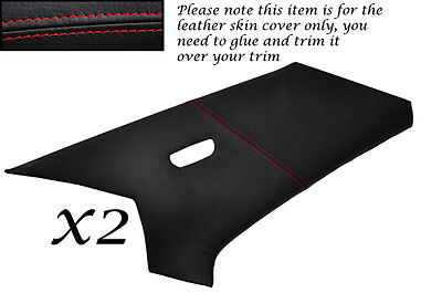 RED STITCH FITS MERCEDES 190 W201 1982-1993 2X C POST PILLAR LEATHER COVERS ONLY