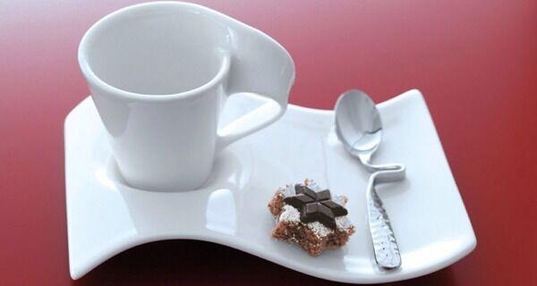 Villeroy & Boch 6 Tasse Caffè Espresso Avec Soucoupe Neuf Vague café +cuillère à