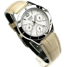 100% Genuine Casio Watch Ladies Day Date Leather Analog Quartz LTP-2069L-7A1V