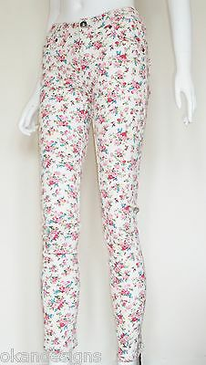 Aus Dem Ausland Importiert Ladies Super Skinny Low Rise Floral Stretch Skinny Jeans Sizes 8 10 12 14 16 New Weitere Rabatte üBerraschungen