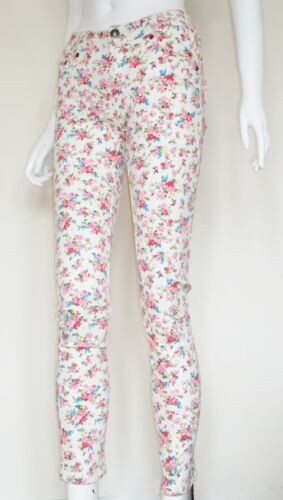 Ladies Super Skinny Low Rise Floral Stretch Skinny Jeans Sizes 8 10 12 14 16 NEW