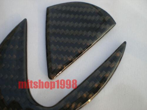 LEXUS IS250 Real Carbon Grille Trunk Emblem Badges Set