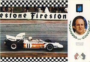 Autogrammkarte-McLaren-Ford-M19C-Denis-Denny-HULME-Formula-One-Racecar-Driver