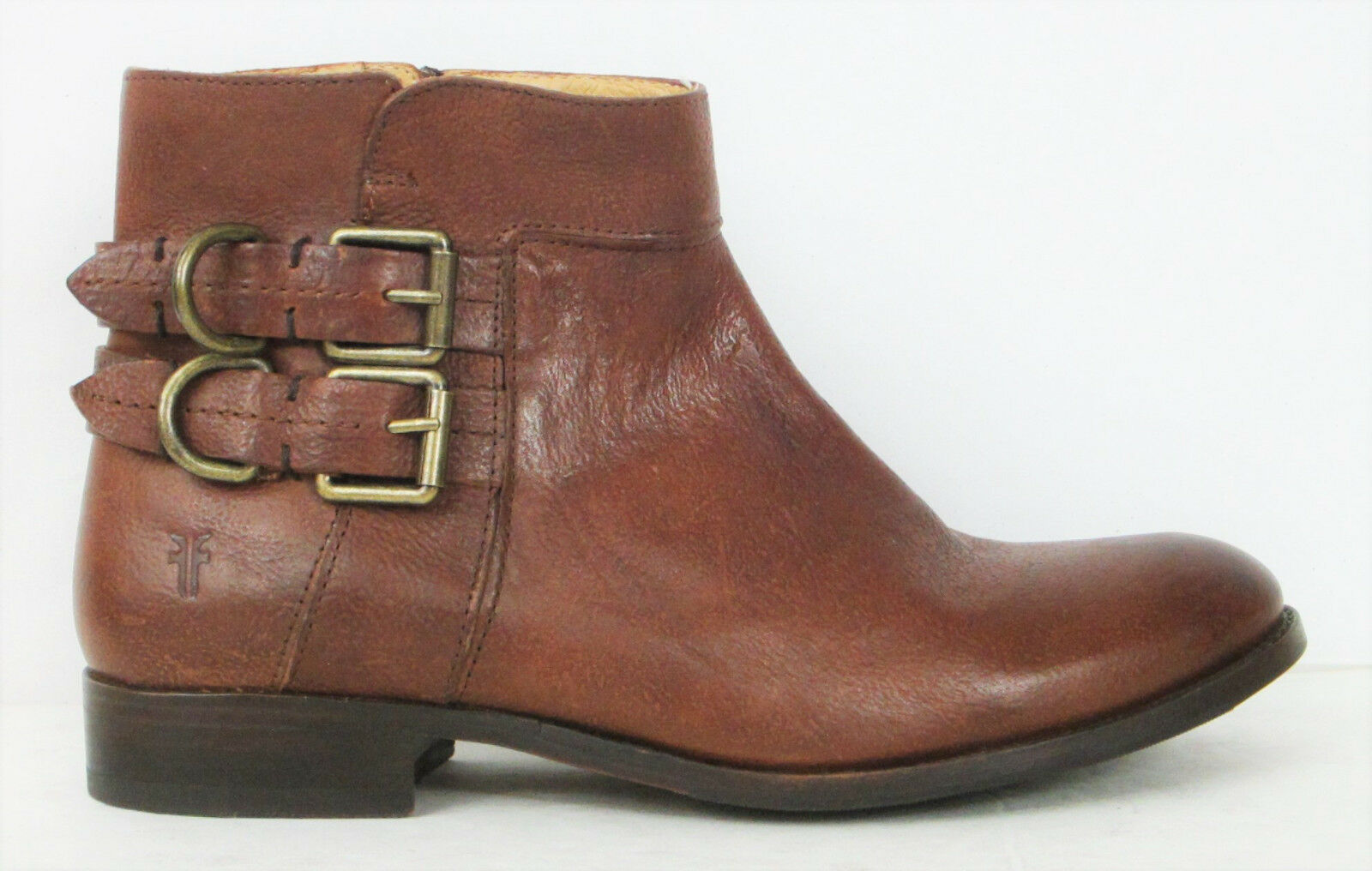FRYE BOOTS Molly D Ring Short Copper Calf Leather Boots 72102 SZ 8.5  348