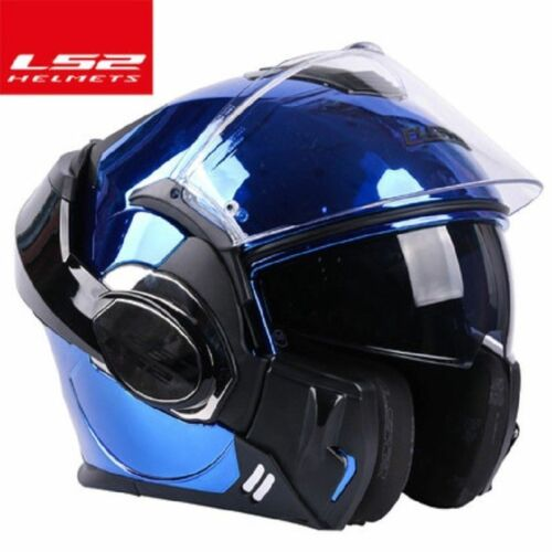 LS2 FF399 Full Face Motorcycle Helmet Flip Up Dual Visor Moto Auto Off-road ECE