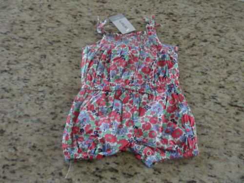 NEW Carter/'s Baby Girls Blue Floral Romper Size 3M 6M 9M 12M